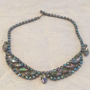 🦋Aurora Borealis Vintage Too Awesome Necklace 🦋